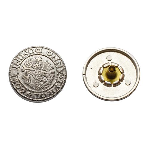 64301 Кнопка 5/20мм. сер. 'Герб'