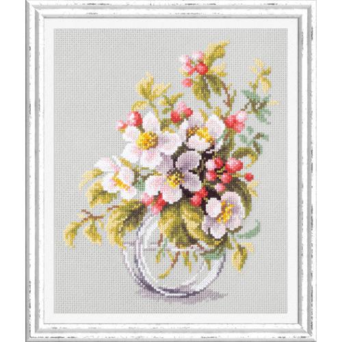 100-011 Набор для вышивания Чудесная игла 'Яблоневый цвет'18*23см