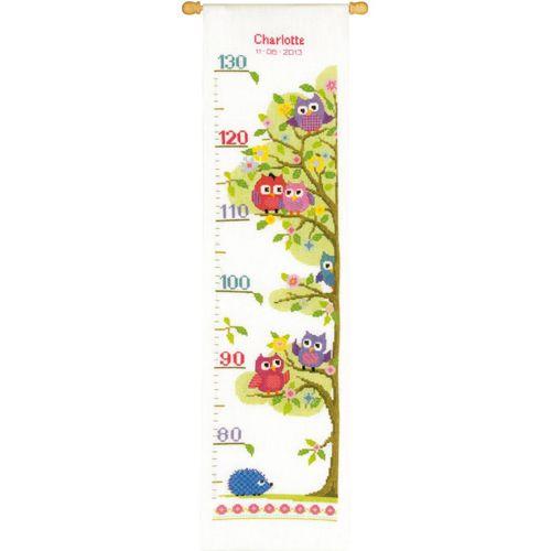 PN-0147238 Набор для вышивания Vervaco 'Совята на дереве' 18x70см