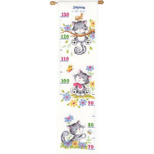 PN-0021581 Набор для вышивания Vervaco 'Игривые котята' 18x70см