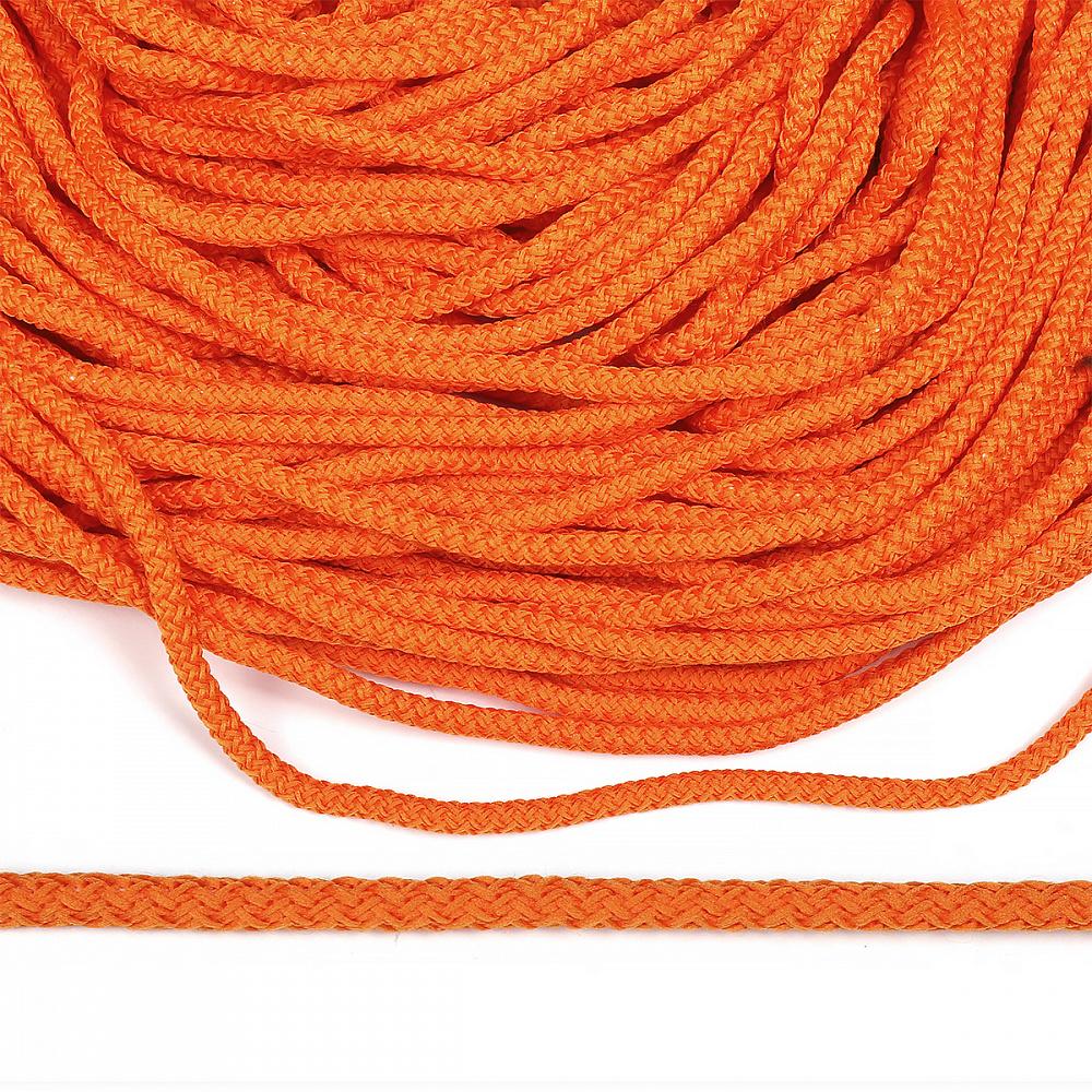Шнур круглый полиэфир 05мм арт.1с-50/35 с наполнителем цв.077 оранжевый уп.200м, 1С503577ОРАНЖ