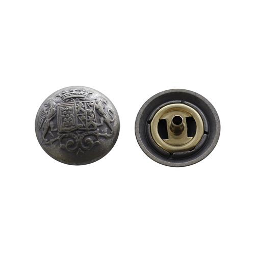 64278 Кнопка 5/20мм. мат/сер. 'Герб'