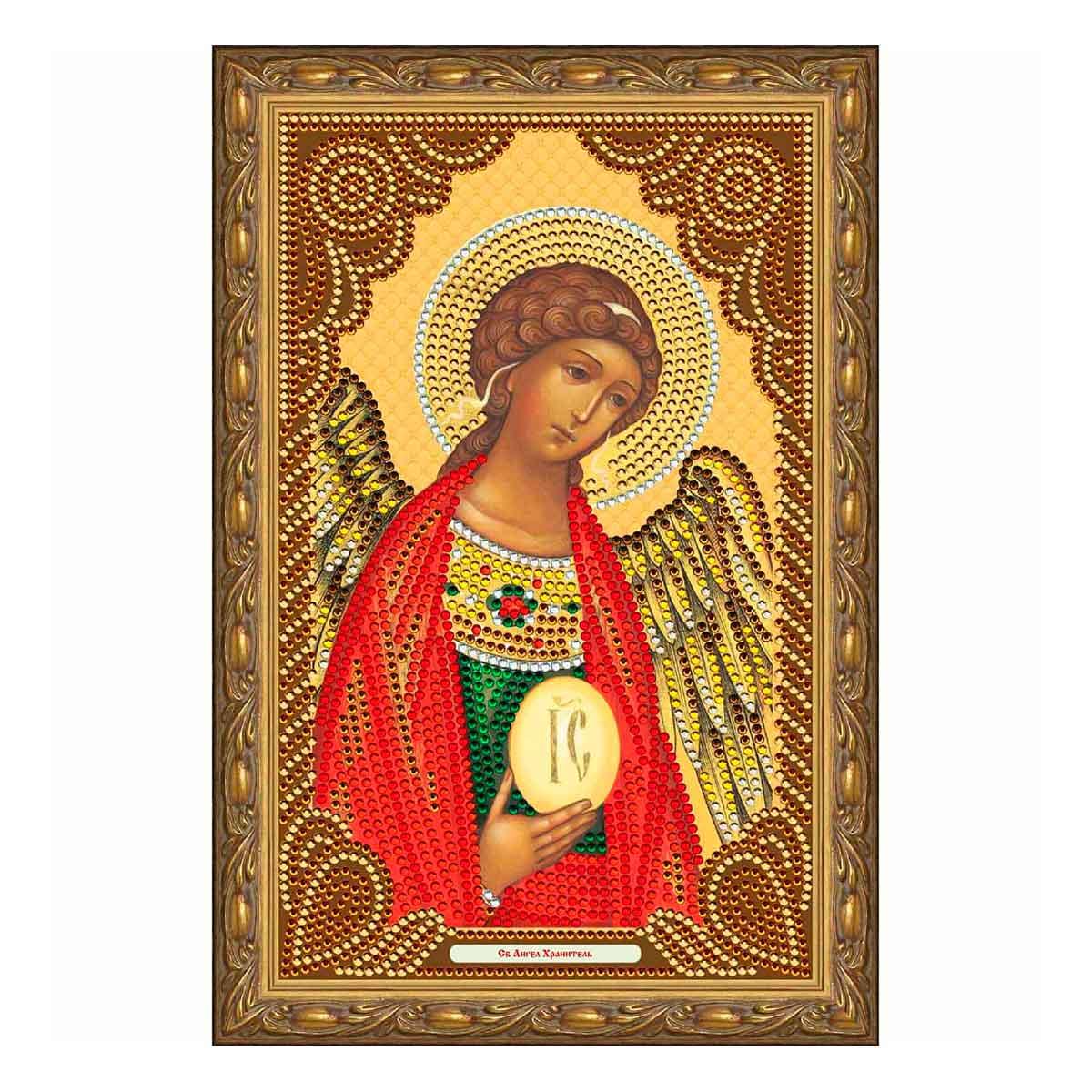 IK009 Картина со стразами Колор Кит 'Святой Ангел Хранитель' 20*30см