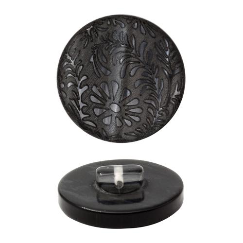 Пуговица костюмная на ножке, 34L , цв. черный