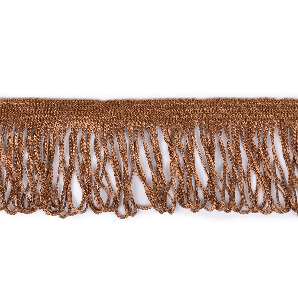 Бахрома арт. 0390-1070 цв.6470 шир. 60мм цв.коричневый уп.10м, БХ039010706470