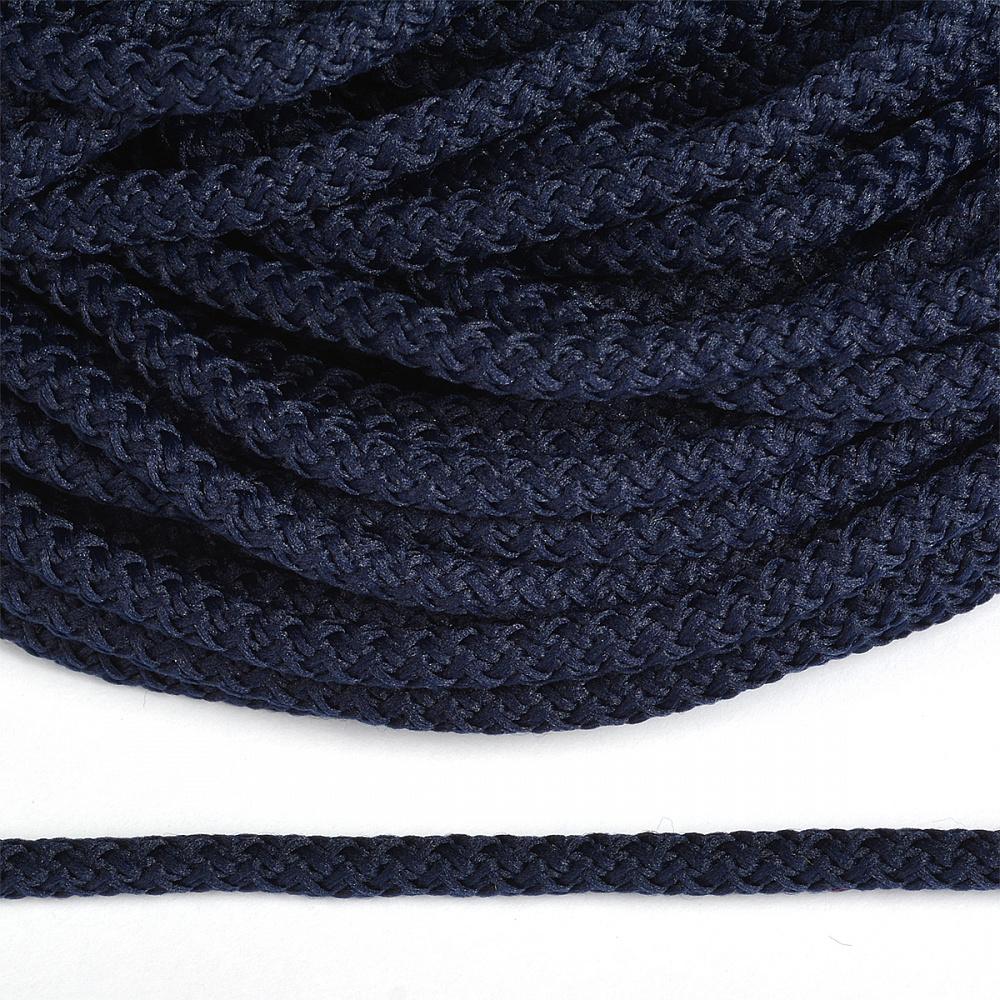 Шнур круглый полиэфир 05мм арт.1с-50/35 с наполнителем цв.075 синий уп.200м, 1С503575СИНИЙ