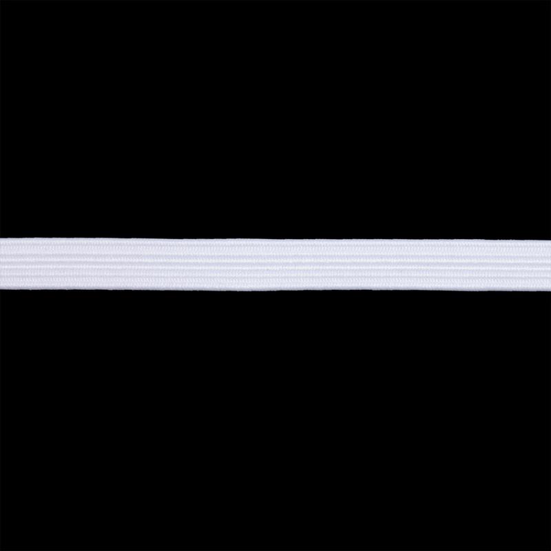 Тесьма эластичная 10мм*40м, белая