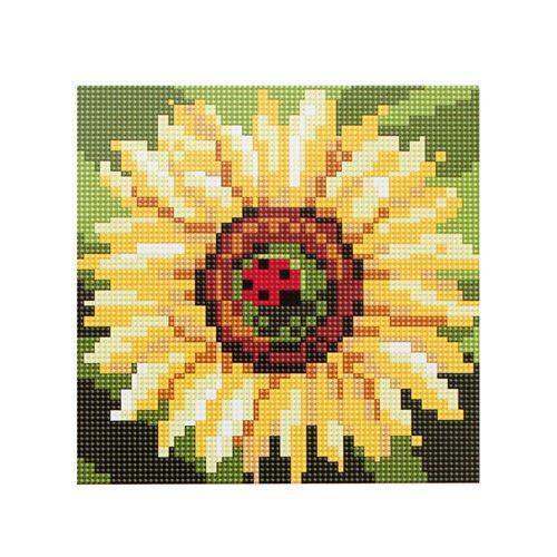 BZ050 Мозаика на деревянной основе 'Цветок солнца', 20*20 см