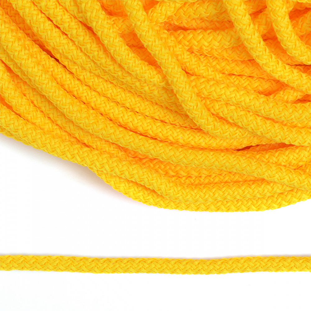 Шнур круглый полиэфир 05мм арт.1с-50/35 с наполнителем цв.093 желтый уп.200м, 1С503593ЖЕЛТЫЙ
