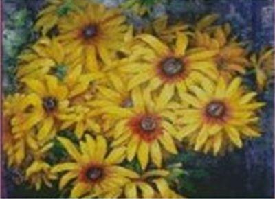 1200 Мозаика Cristal 'Желтые ромашки', 38*50 см