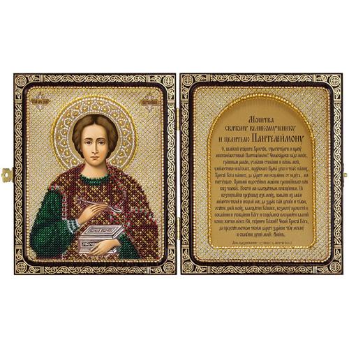 СЕ7108 Набор для вышивания бисером Нова Слобода ' Св. Великомученик и Целитель Пантелеймон' 23x14,2см
