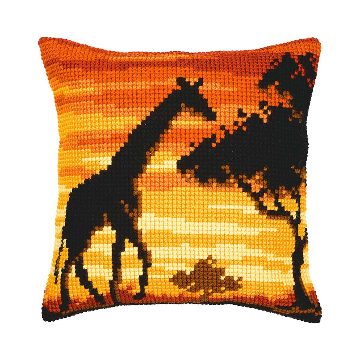 PN-0008642 Набор для вышивания подушки Vervaco 'Жираф' 40x40см