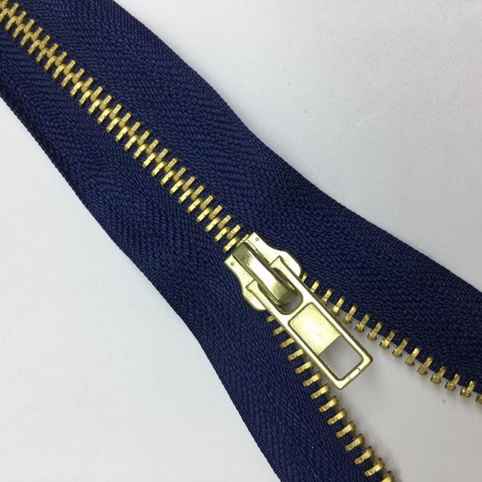 Молния джинсовая №5 золото н/раз 18см D330 темно-синий п/авт., 2135001230977