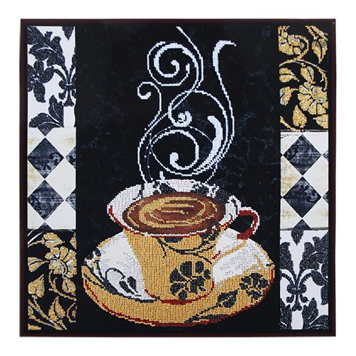 БН-3188 Набор для вышивания бисером Hobby&Pro 'Аромат кофе', 36*36 см