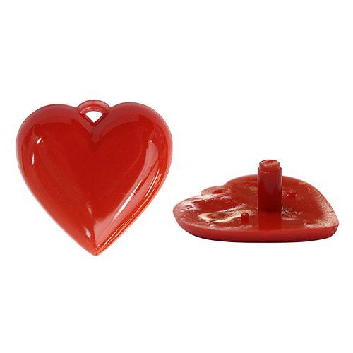 Сердце среднее 3,4*3,4см пластик.