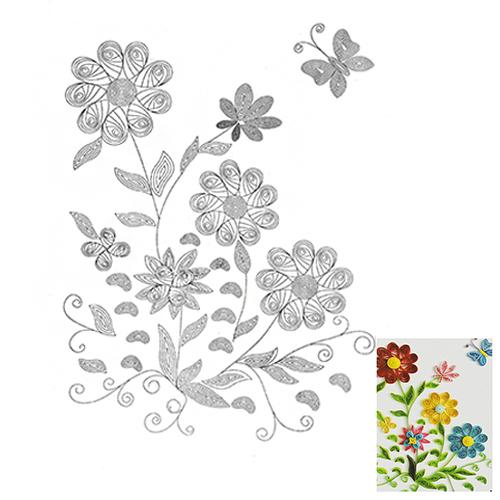 33 Схема для квиллинга 'Полевые цветы'