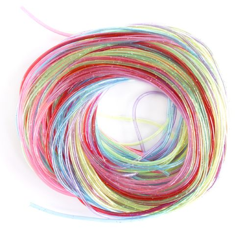 Трубочки для плетения цветные с блестками, 1 м, упак./25 шт., 'Астра'
