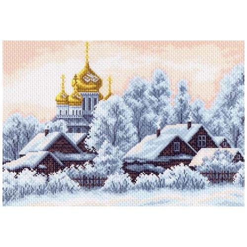1201 Канва с рисунком 'Матренин посад' 'Деревушка', 37*49 см