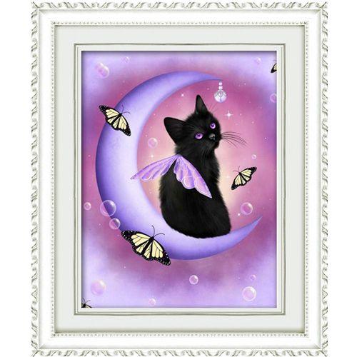 1334 Мозаика Cristal 'Черный кот', 40*50 см