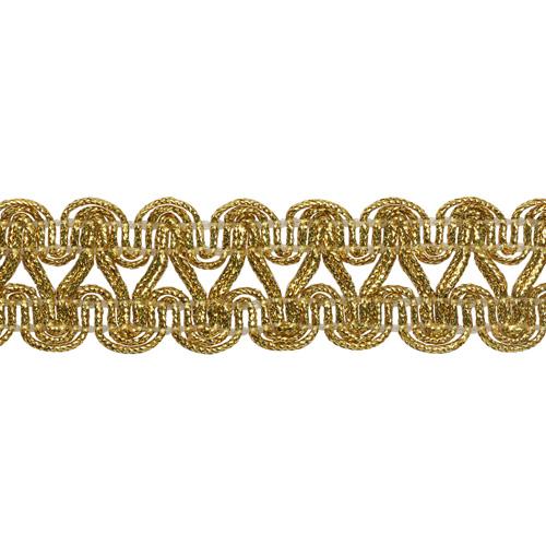 0384-1926 Тесьма металлизированная 22мм*18,29м