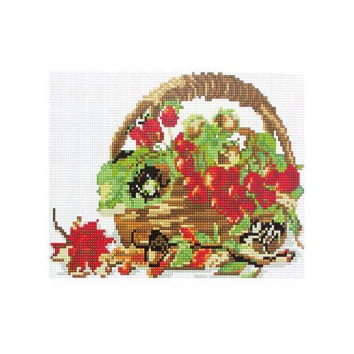 CZ013 Мозаика на деревянной основе 'Корзинка', 20*30 см