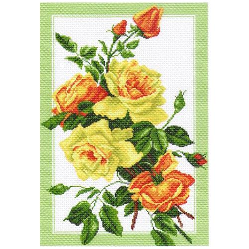 1224 Канва с рисунком 'Матренин посад' 'Букет роз', 37*49 см