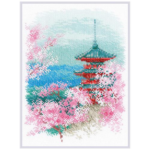 1743 Набор для вышивания Риолис 'Сакура. Пагода' 18*24 см