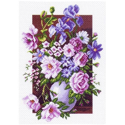 1225 Канва с рисунком 'Матренин посад' 'Букет цветов', 37*49 см