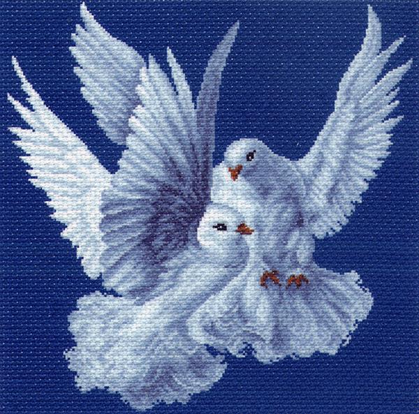 1100 Набор для вышивания подушка 'Матренин Посад' 'Нежность', 34*34 см