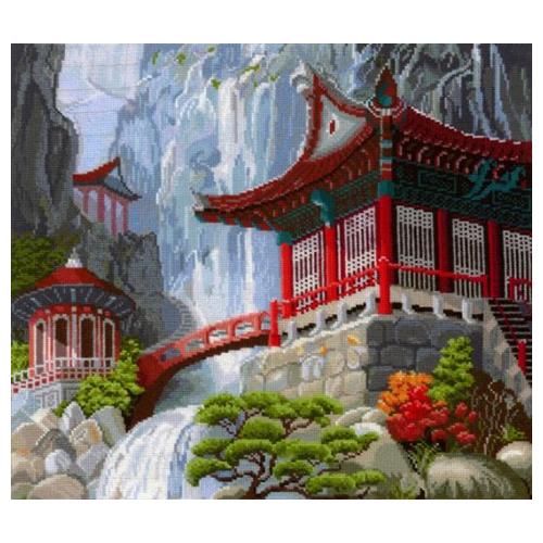 В-12 Набор для вышивания 'Водопад и пагода', 40*35 см