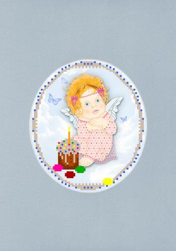 105/БП Наборы для вышивания с бисером и паспарту 'Матренин посад' 'Светлый ангел', 20,5*30,5 см