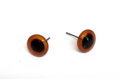 26519 Глазки 14 мм на металл.ножке, упак/2шт, коричневый