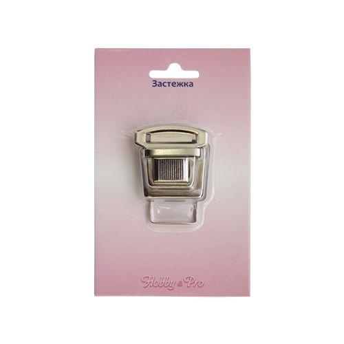 818-024 Замок портфельный, никель, 35*30 мм, Hobby&Pro
