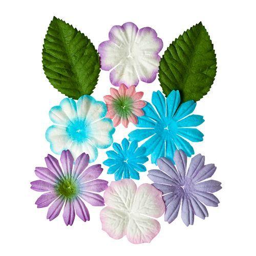 SCB300308 Набор цветочков с листочками 'Нежные', упак./10 шт.