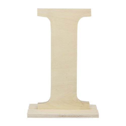 SCB350217 Деревянная буква *I* 10x4x15см
