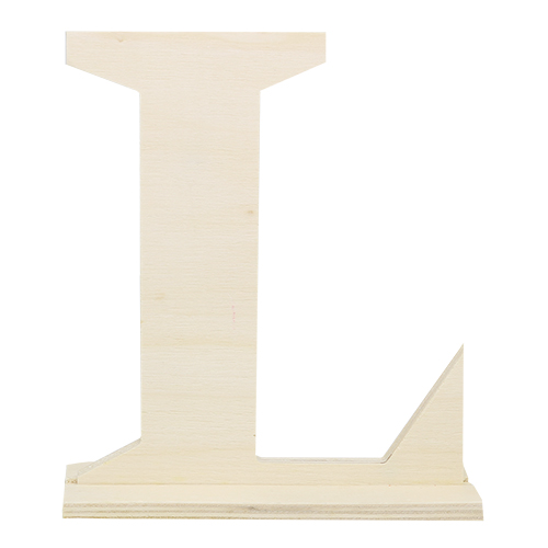 SCB350219 Деревянная буква *L* 16x4x15см