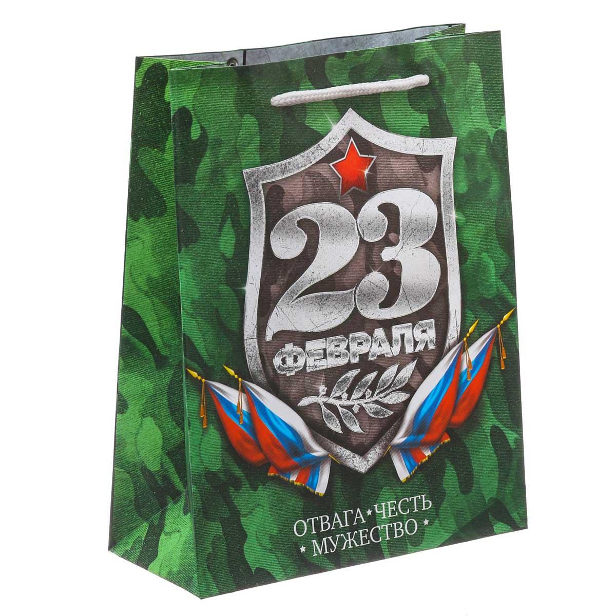 3639744 Пакет ламинированный вертикальный «Настоящему герою», 23*27*8 см