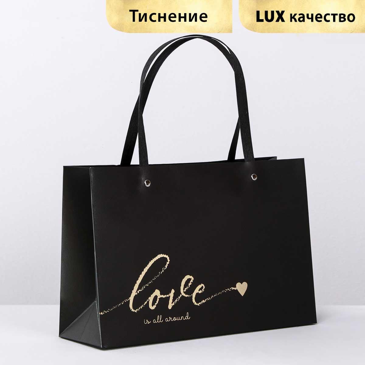 4131805 Пакет подарочный Love, 20*30*10 см