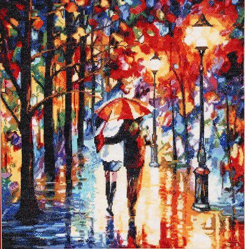 722 Набор для вышивания Hobby&Pro 'Прогулка под дождем', 40*41 см