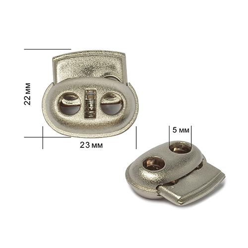 TB-3032 Фиксатор 2отв. d=5мм, 23*22мм, пластик под металл