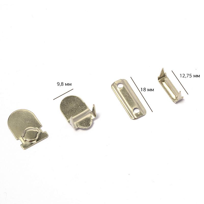 TBY-JX8204B Крючки брючные 2 шипа 18*9,8мм, никель