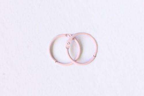 SCB 2504420 Кольца для альбомов, розовые, 20 мм, упак./2 шт.
