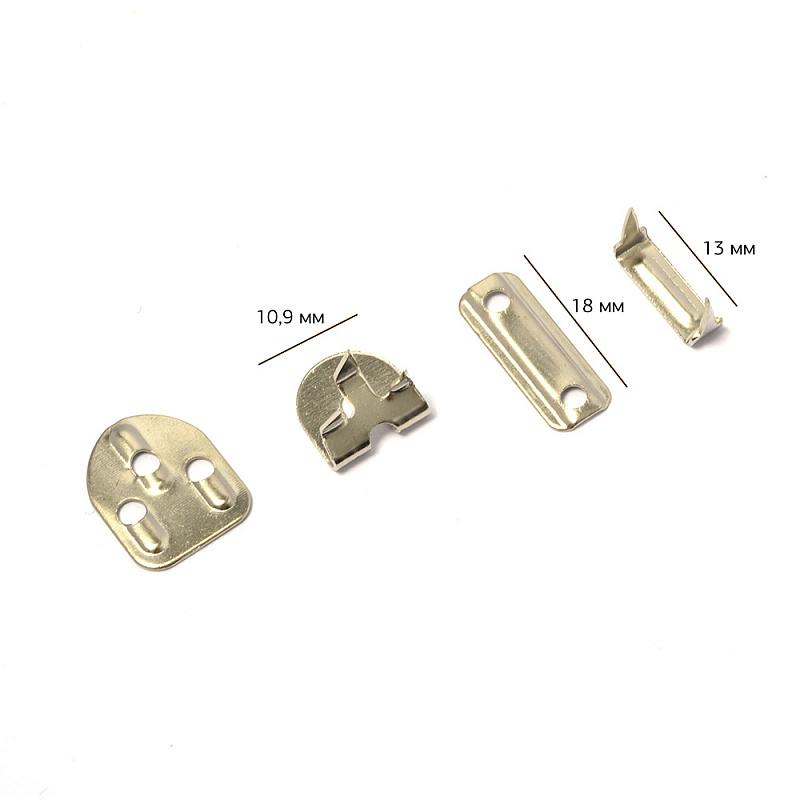 TBY-JX8205 Крючки брючные 3 шипа 18*10,9мм, никель