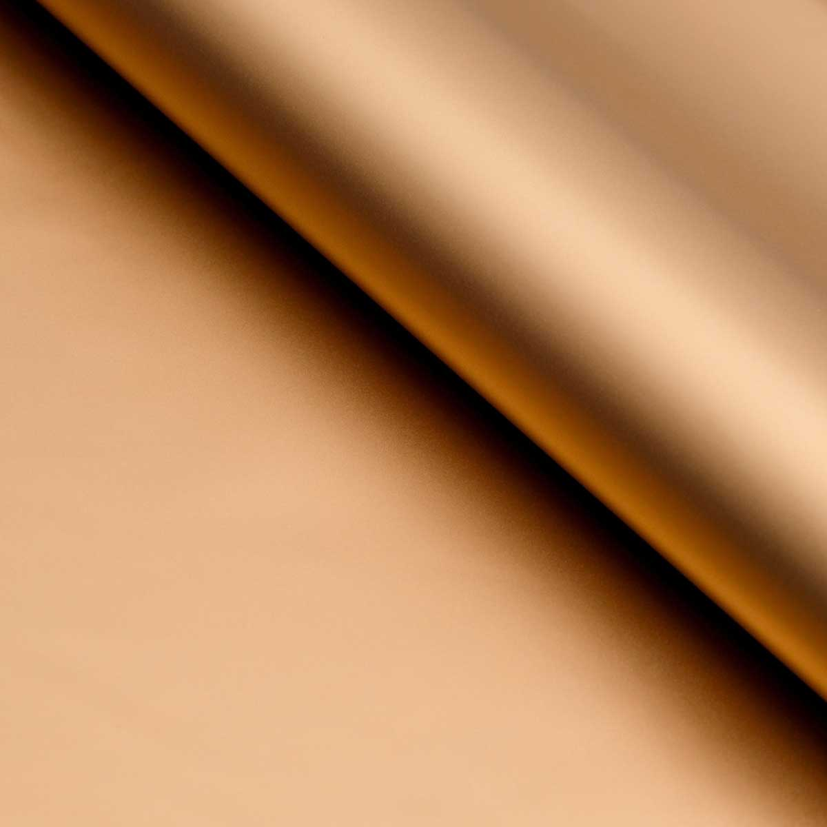 128439 Пленка матовая 60*60 см, цвет золотой