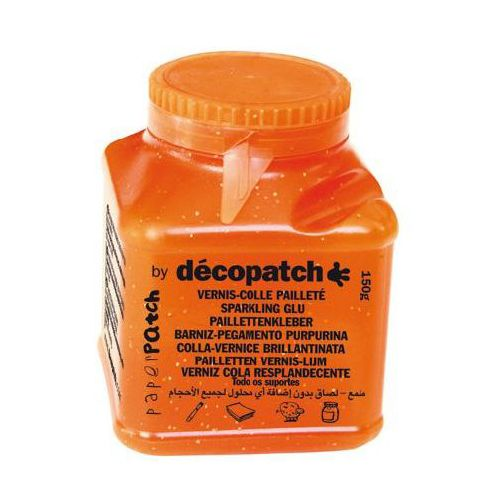 Клей-лак с блестками д/декопатча Decopatch-Paper Patch, 150 гр, уп/оранж