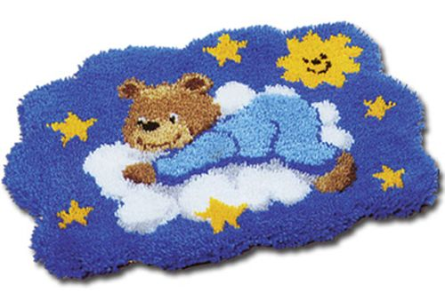 0014358-PN Коврик (ковровая техника) Vervaco 'Мишка на облаке' 55x40 см