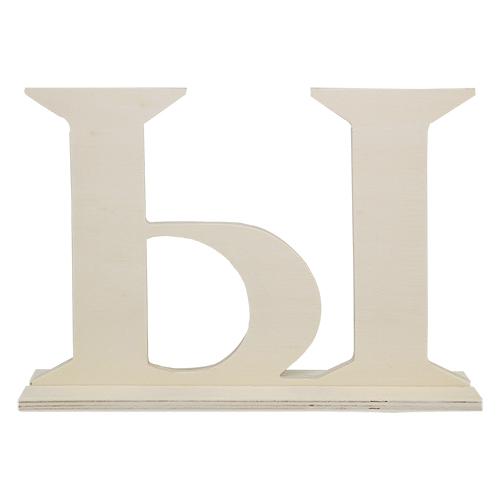 SCB350209 Деревянная буква *Ы* 21.5X4X15см