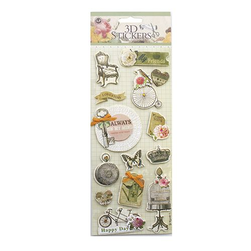 24385 Наклейки 3D 'Stickers', арт. lianfa-AG-6
