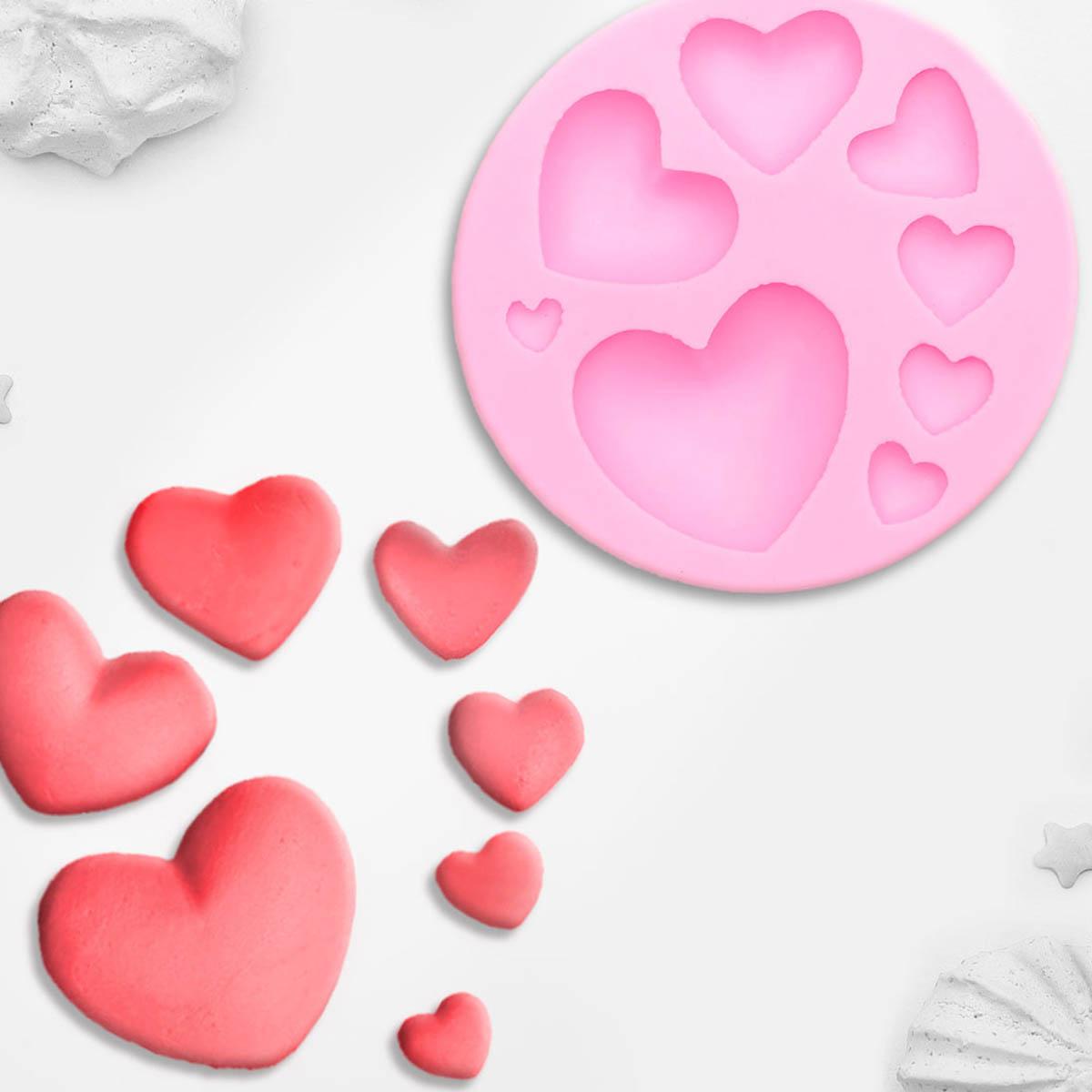 3624574 Молд 7,5*7,5*1 см 'Сердца'