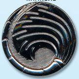 69566 Кнопка 5/28 ч.ник. мет.BRASS ' 'веер' '